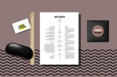 CV Carter - Resume template Photoshop