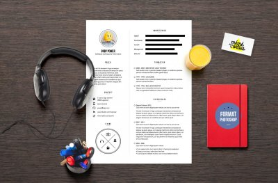 CV Power - Resume template Photoshop