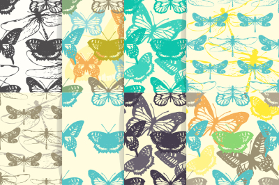 Insect seamless patterns