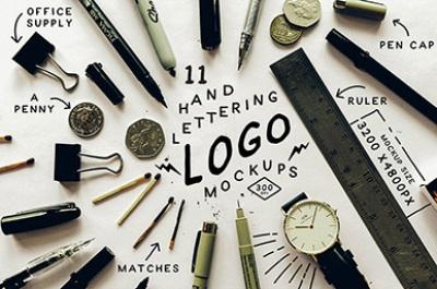 Hand Lettering Logo Mockup