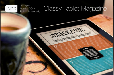 Classy MGZ for Tablet Indesign Template