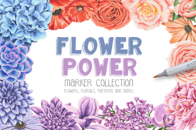 Flower Power Marker Collection