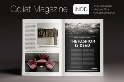 Goliat Magazine Indesign Template