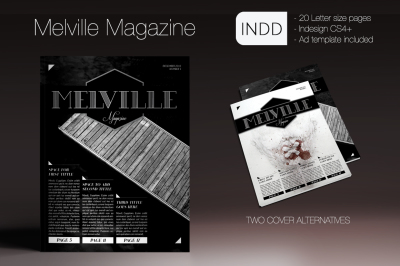 Melville Magazine Indesign Template