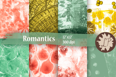 Romantic Digital Papers