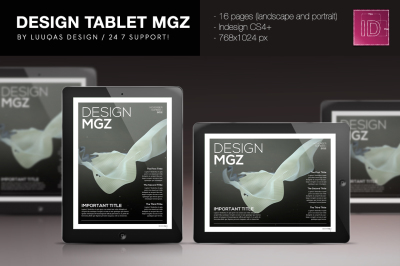 Design Magazine 1 for Tablet Indesign Template