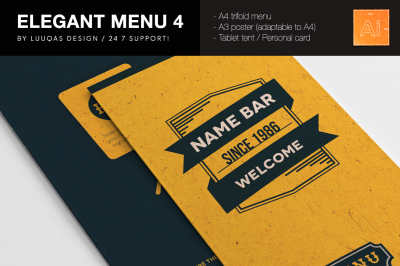 Elegant Food Identity 4 Illustrator Template