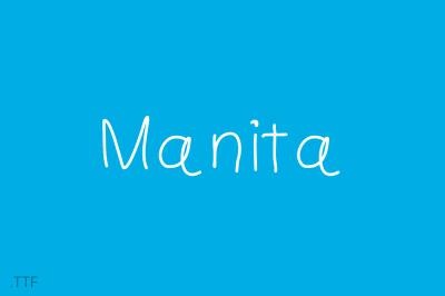 Manita | Font