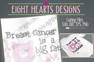 Breast Cancer is a big fat Doodiehead Design