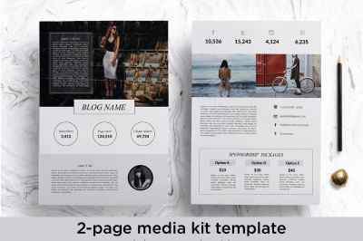 Modern 2 page media kit