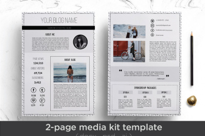 Elegant media kit template