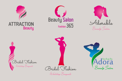 Female & Beauty Salon Logos
