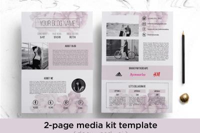 Floral 2-page media kit