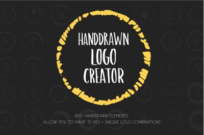 Handdrawn Logo Creator Bundle