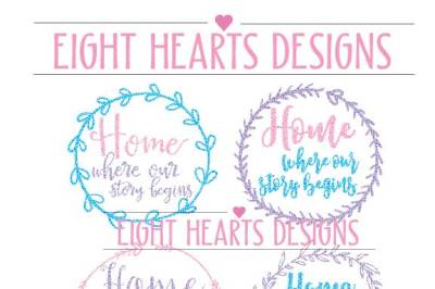 4 Combo Pack - Home - Where our Story Begins SVG DXF PNG EPS Cutting Design