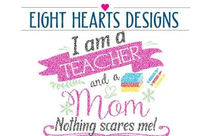 I am a Teacher and a Mom, SVG DXF PNG EPS Cutting Design Teacher Appreciation