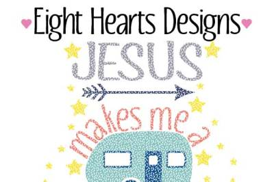 Jesus makes me a Happy Camper - SVG DXF PNG EPS Designs Cutting Files Great for Tshirts, wood signs, flags
