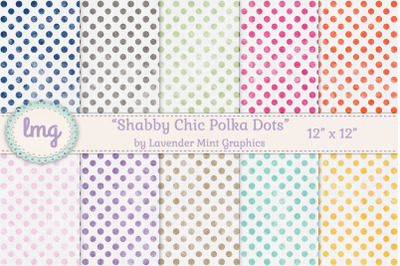 Vintage Polka Dot Digital Paper