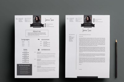 Resume template , cover letter template