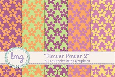 Floral Seamless Digital Papers
