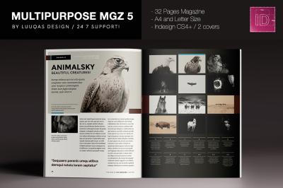 Multipurpose Magazine 5 Indesign Template