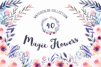 Watercolor Magic Flowers