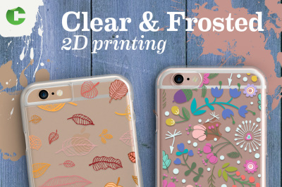 Iphone 6/6S Clear and Frosted Cases + Device Mock-up