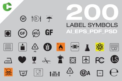 200 Label Symbols