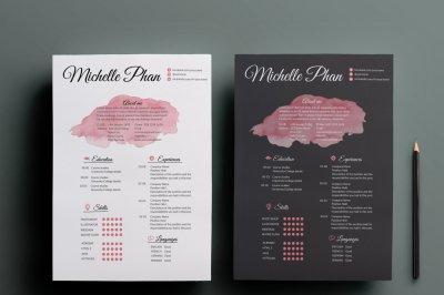 Elegant resume templates ( 2 color options )