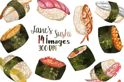 Sushi Clipart Set