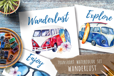 Watercolor travel set