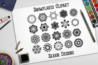 Ornaments Snowflakes Clipart
