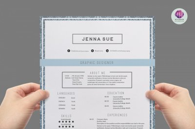 Resume template , cover letter template, references template