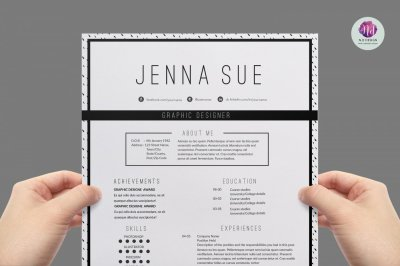 Modern resume template , cover letter template , references template