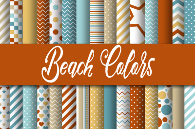 Beach Colors Digital Papers