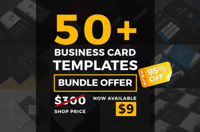 50 Business Card Template Bundle