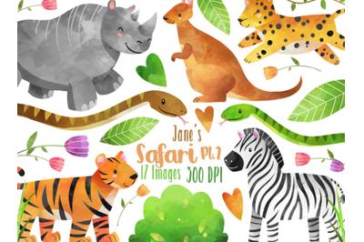 Safari Wild Animals Clipart Set
