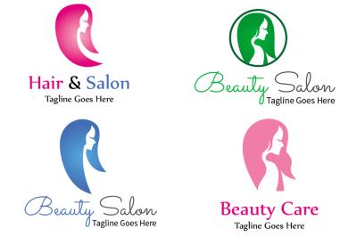 Beauty Salon Care Logo