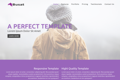 Busat - Responsive One Page HTML Template