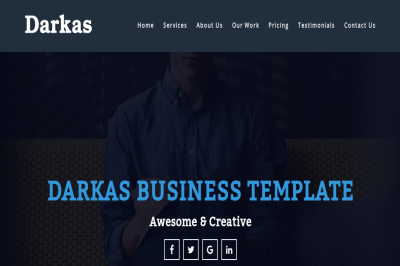 Darkas - Business Template