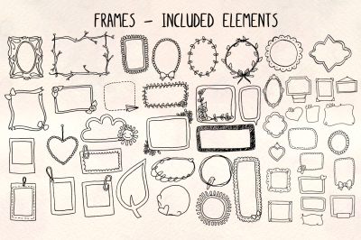 48 Photo Frame Illustrations - Vector Graphics Bundle!