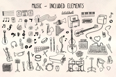 Music - 70+ Musical Illustrations - Vector Graphics Bundle!