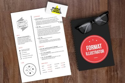 CV Sam - Resume template Illustrator