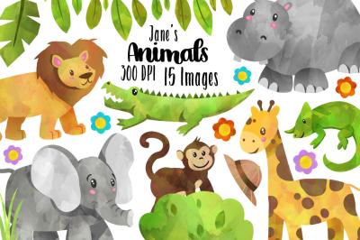 Safari Wild Animals Clipart Set 2