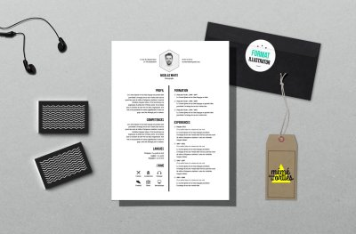 CV White - Resume template Illustrator