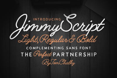 Jimmy Font Duo (5 Fonts) + Extras!