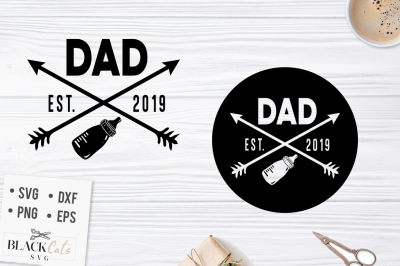 Dad est 2019 SVG file