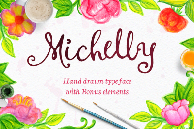 Michelly typeface with elements