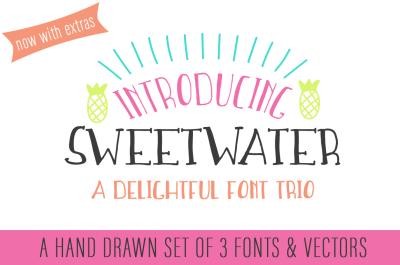 SweetWater | A Handwritten Font Trio