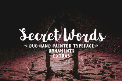 Secret Words Font Duo + Big Bonus